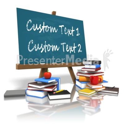 Custom Board Education Books PowerPoint Clip Art
