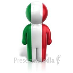 ID# 14424 - Italy Peg Figure - Presentation Clipart