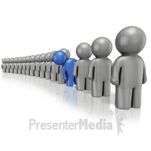 ID# 14429 - Figure Line Standout - Presentation Clipart