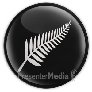 ID# 14432 - Unoffical New Zealand Badge - Presentation Clipart