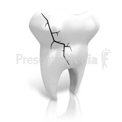 Cracked Tooth PowerPoint Clip Art