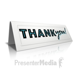 ID# 14447 - Beveled Card Thank You - Presentation Clipart