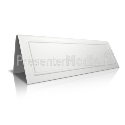 Beveled Card Blank PowerPoint Clip Art