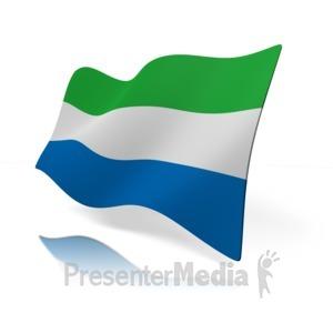 ID# 14458 - Sierra Leone Flag Perspective - Presentation Clipart