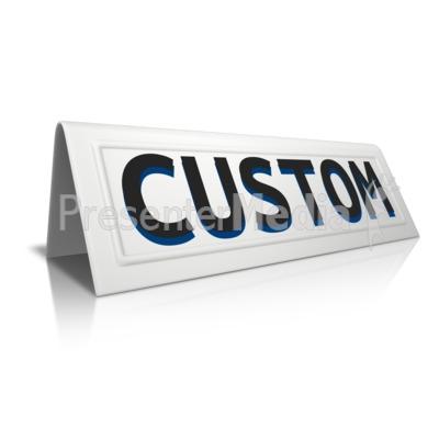 Beveled Card Custom PowerPoint Clip Art