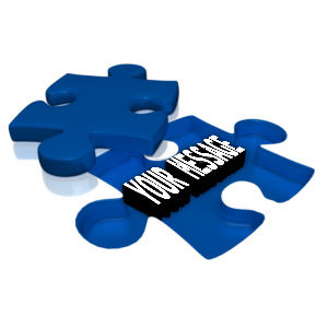 ID# 14492 - Text Under Puzzle Piece - Presentation Clipart