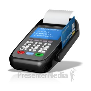ID# 14498 - Point Of Sale Machine Card Swipe - Presentation Clipart