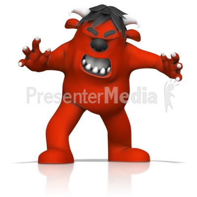 Angry Monster PowerPoint Clip Art