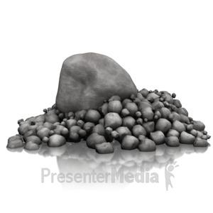 ID# 14523 - Rock Pile Standout - Presentation Clipart
