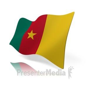 ID# 14531 - Cameroon Flag - Presentation Clipart
