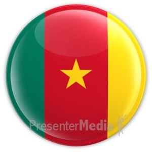 ID# 14532 - Cameroon Button - Presentation Clipart
