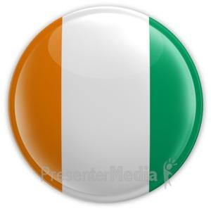 ID# 14534 - Cote D'Ivoire Button - Presentation Clipart