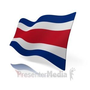 ID# 14541 - Costa Rica Flag - Presentation Clipart