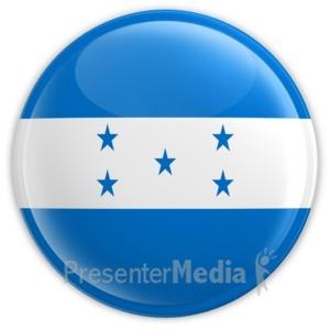ID# 14542 - Honduras Button - Presentation Clipart