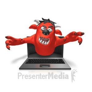 ID# 14547 - Monster Scary Screen - Presentation Clipart