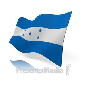 ID# 14549 - Honduras Flag - Presentation Clipart