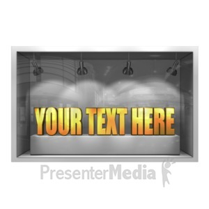ID# 14551 - Glass Window Display 3D Text - Presentation Clipart