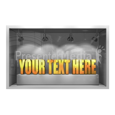 Glass Window Display 3D Text PowerPoint Clip Art