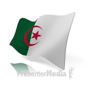 ID# 14553 - Algeria Flag - Presentation Clipart