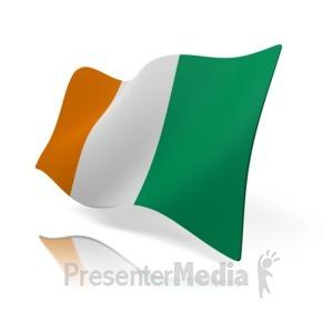 ID# 14558 - Cote Divoire Flag - Presentation Clipart
