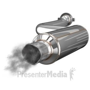 ID# 14568 - Exhaust Muffler Waste - Presentation Clipart