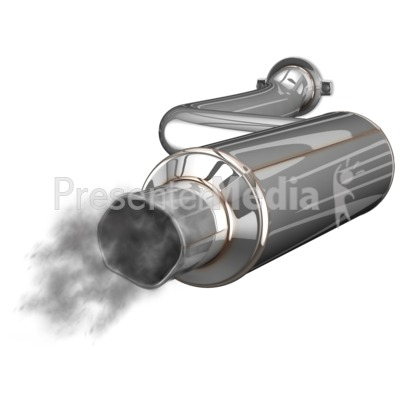 Exhaust Muffler Waste PowerPoint Clip Art
