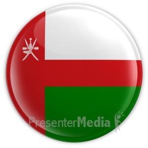 ID# 14578 - Oman Badge - Presentation Clipart