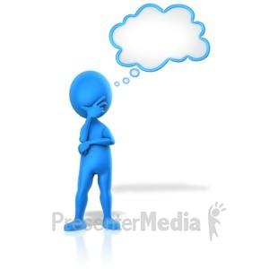 ID# 14600 - Pondering A Thought - Presentation Clipart
