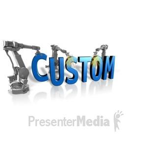 ID# 14614 - Robot Building Custom Text - Presentation Clipart