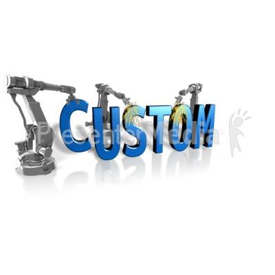 Robot Building Custom Text PowerPoint Clip Art