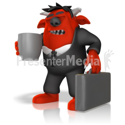Monster Headed To Work PowerPoint Clip Art