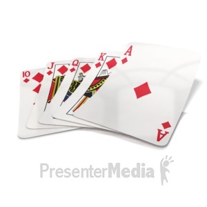 ID# 14651 - Lay Cards on the Table - Presentation Clipart