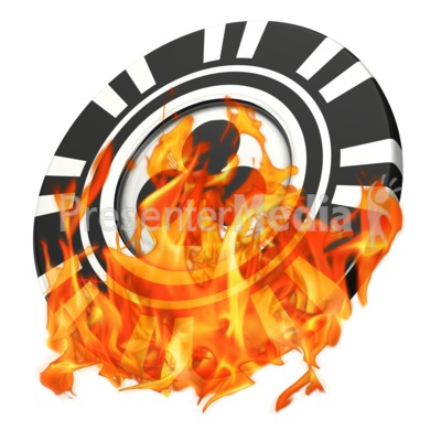 Gambling Poker Chip On Fire - Sports and Recreation - Great ...