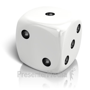 ID# 14664 - Dice Rolled A One - Presentation Clipart