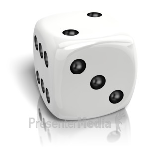 ID# 14665 - Dice Rolled A Two - Presentation Clipart