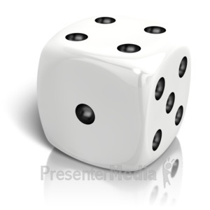 ID# 14667 - Dice Rolled A Four - Presentation Clipart