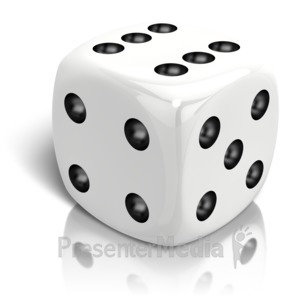 ID# 14669 - Dice Rolled A Six - Presentation Clipart