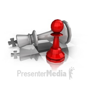 ID# 14680 - King Down On Chess Board - Presentation Clipart