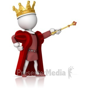 ID# 14705 - King Figure Standing Strong Pointing - Presentation Clipart