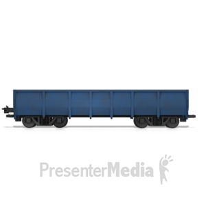 ID# 14708 - Bin Rail Car - Presentation Clipart