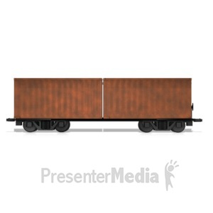 ID# 14709 - Split Box Car - Presentation Clipart