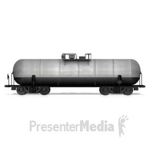 ID# 14710 - Tanker Rail Car - Presentation Clipart