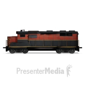 ID# 14711 - Train Locomotive Engine - Presentation Clipart
