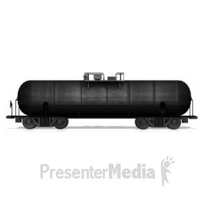 ID# 14712 - Oil Tanker Car - Presentation Clipart