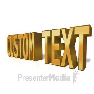 ID# 14720 - Custom Text Gold - Presentation Clipart