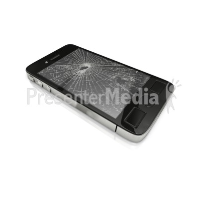 Smart Phone Screen Broken PowerPoint Clip Art