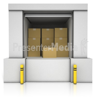 Loading Dock Boxes PowerPoint Clip Art