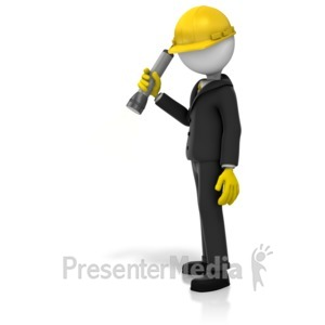 ID# 14751 - Inspector Searching Light - Presentation Clipart