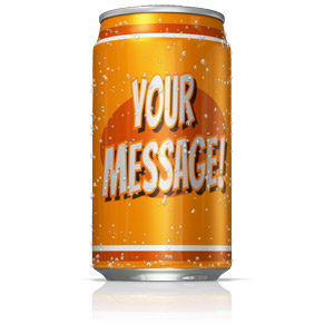 ID# 14755 - Custom Soda Can - Presentation Clipart