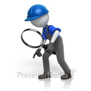 ID# 14765 - Construction Worker Searching - Presentation Clipart